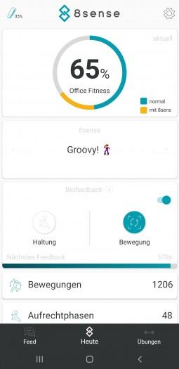 Die Auswertung wird in Prozentpunkten dargestellt. (Bild: Oliver Nickel/Golem.de)