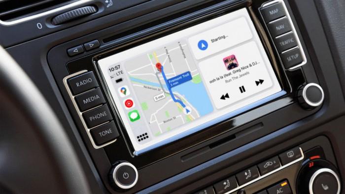 Google Maps auf dem Carplay-Dashboard (Bild: Google)