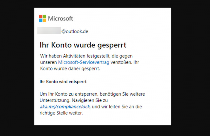 Kontensperrung (Bild: Dr. Windows/Screenshot: Golem.de)