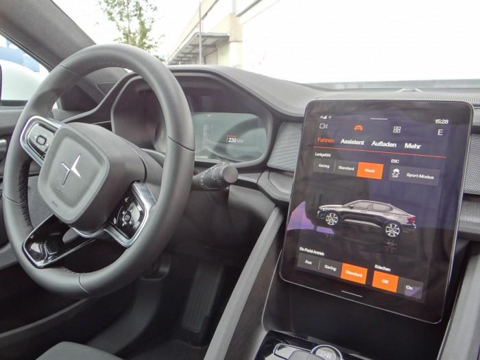 Der Polestar 2 ist das erste Auto mit Android Automotive OS. (Foto: Björn Schäfer)