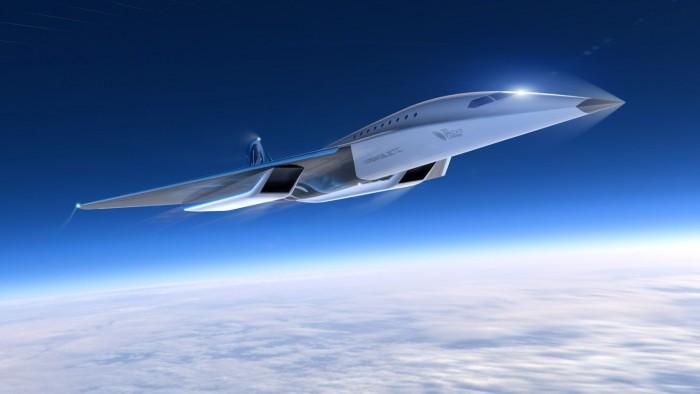 Konzept für ein Überschallverkehrsflugzeug von Virgin Galactic (Bild: Virgin Galactic)