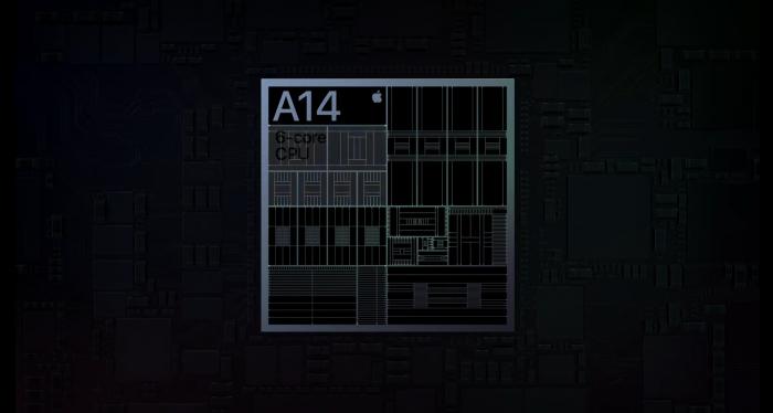 Präsentation zum A14 Bionic (Bild: Apple)