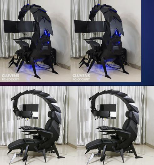 Cluvens Scorpion PC Cockpit (Bild: Cluvens)