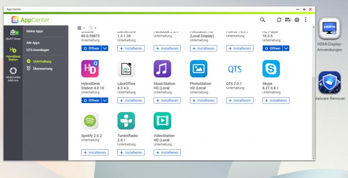 Im App-Center laden wir mehr Programme herunter. (Bild: Oliver Nickel/Golem.de)