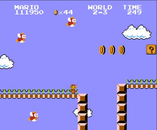 Achtung, tieffliegende Fische! In diesem Level muss der Spieler mit ungewohnt viel Chaos zurechtkommen. (Bild: Nintendo / Screenshot: Medienagentur Plassma)
