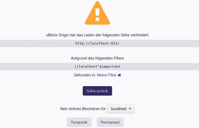 Ublock Origin blockiert eine Ressource - mit einem Klick kann sie temporär oder dauerhaft erlaubt werden. (Screenshot: Golem.de)