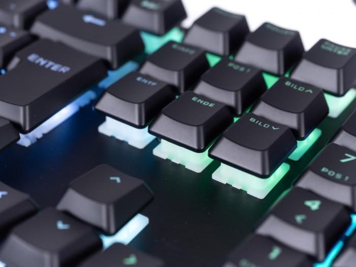 Die Viola-Schalter erlauben dank MX-Mount die Nutzung einer Vielzahl von Tastaturkappen. (Bild: Martin Wolf/Golem.de)