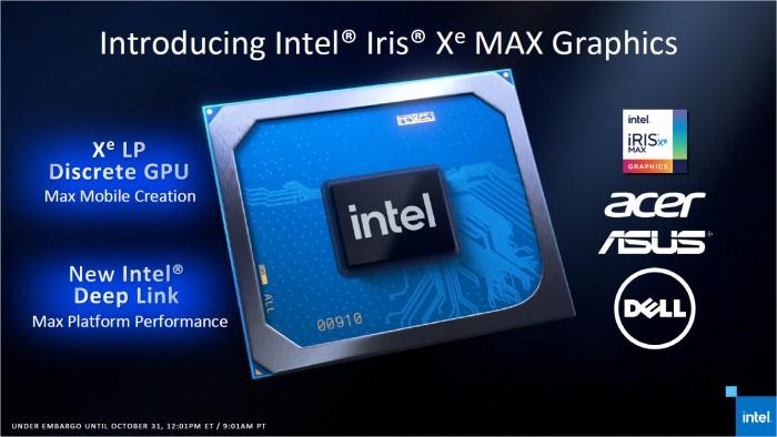 Präsentation zu Iris Xe Max (Bild: Intel)