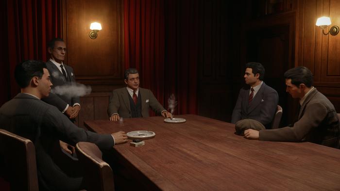 Die Familie sitzt zu Tisch. (Rechteinhaber: Hangar 13, Screenshot: Golem.de)
