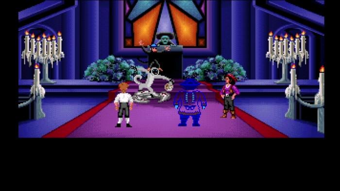Chaos am Altar: Das Finale von The Secret of Monkey Island toppt jede hirnrissige Beziehungskomödie. (Bild: Lucas Arts/Screenshot: Medienagentur plassma)