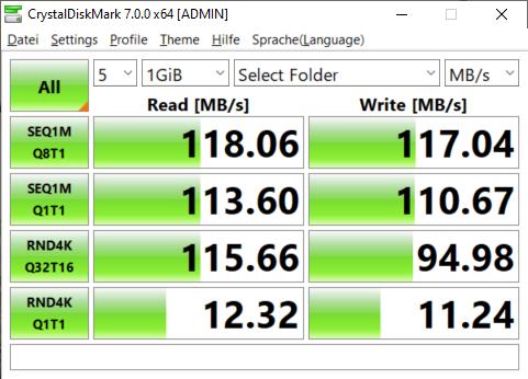 Crystaldiskmark SSD (Screenshot: Oliver Nickel/Golem.de)