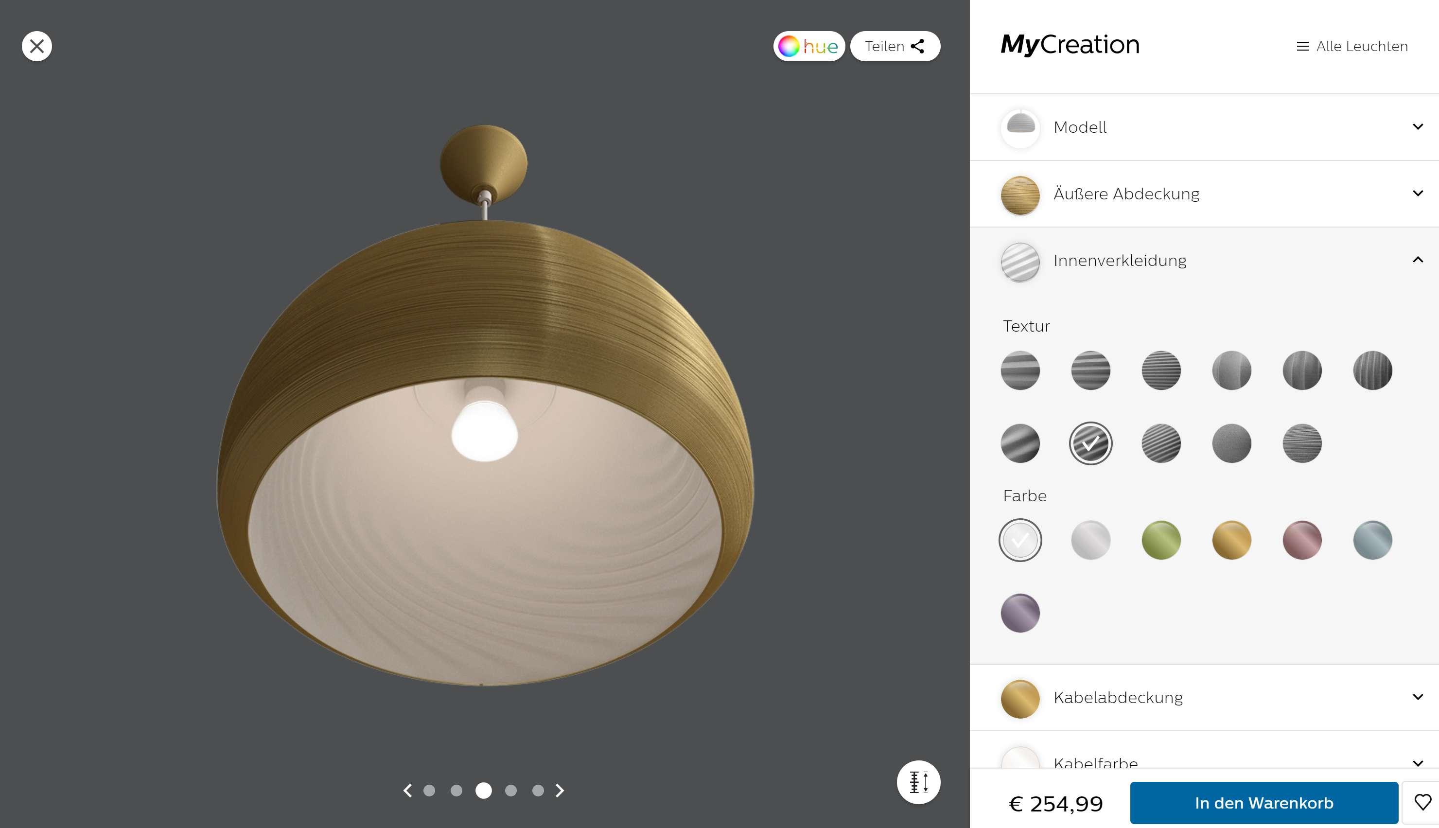 Philips-Leuchten-Konfigurator im Test: Die schicke Leuchte aus dem 3D-Drucker -