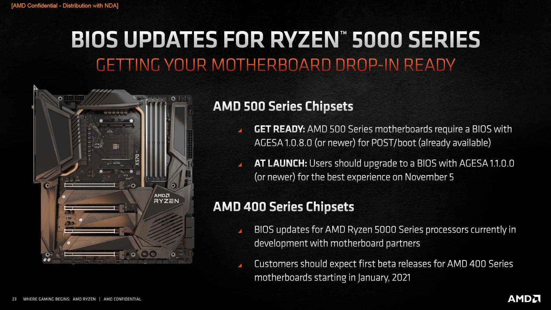Vermeer: AMDs Ryzen 5000 sollen Intel überall schlagen - Vorerst laufen die Ryzen 5000 nur auf X570/B55 (Bild: AMD)
