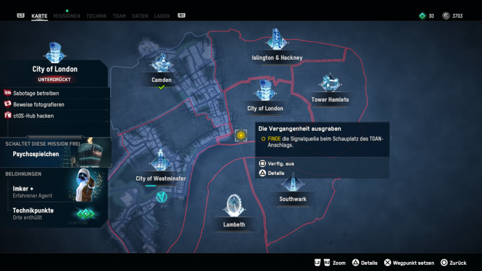 Nach und nach erkunden wir die riesige Metropole. (Bild: Ubisoft/Screenshot: Golem.de)