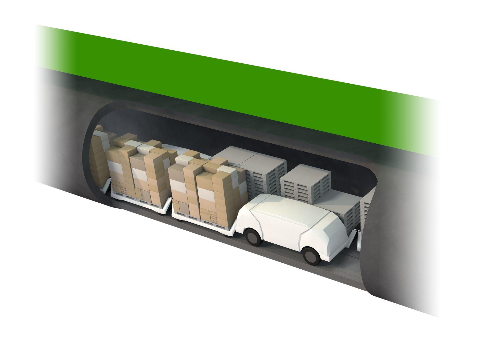 Logistik: Hamburg bekommt eine Röhre für autonome Warentransporte -