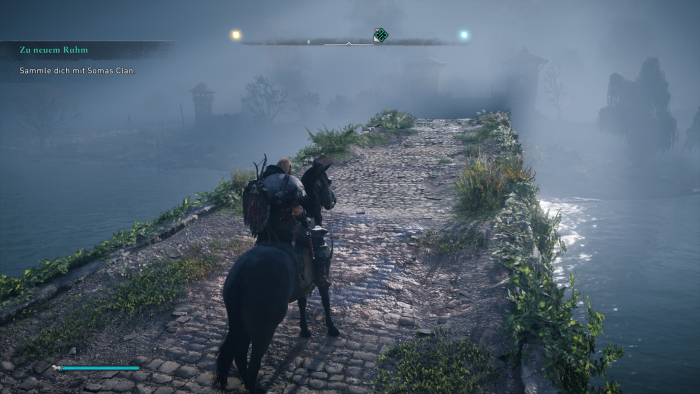 Längere Wege schaffen wir mit unserem Pferd schneller. (Bild: Ubisoft/Screenshot: Golem.de)