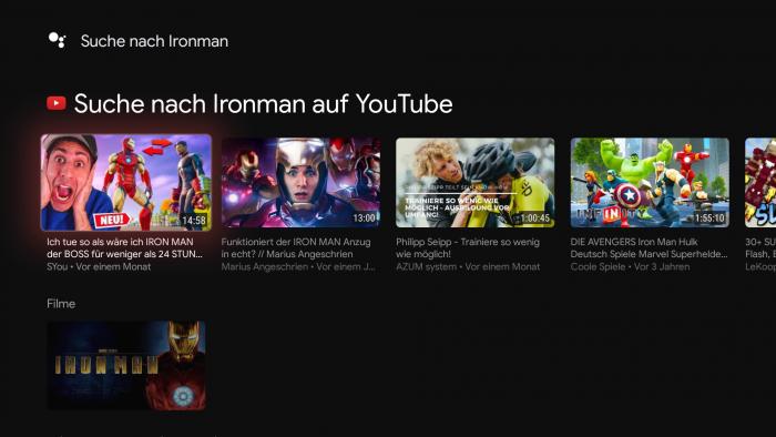 Suchen wir nach Iron Man, findet die Google-Suche nur den ersten Teil. (Bild: Google/ Screenshot: Golem.de)