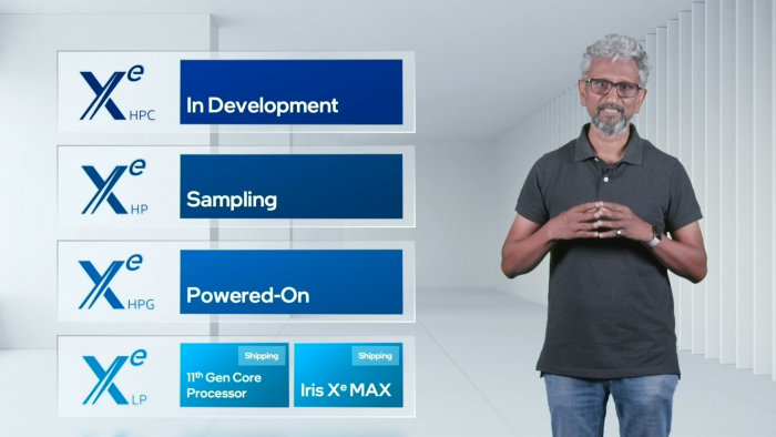 Die Xe-Roadmap sieht weitere GPUs vor. (Bild: Intel)