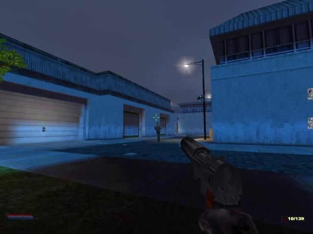 Schleich dich: In der zweiten Mission lohnen sich heimliches Vorgehen und das Verstecken im Schatten. In einem offenen Kampf würde Cate Archer nicht lange überleben. (Bild: Monolith Productions / Screenshot: Medienagentur plassma)