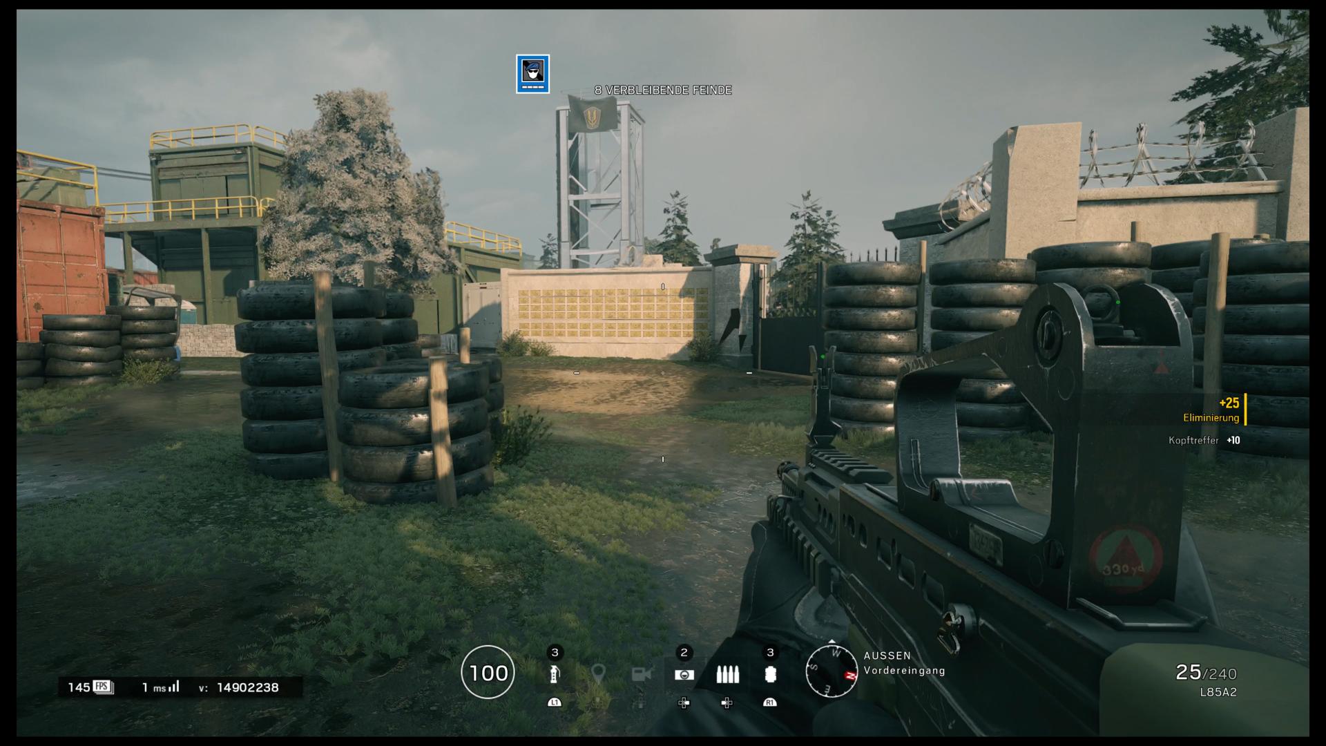 Next-Gen im Test: Playstation 5 liefert Bling-Bling und Begeisterung - Rainbow Six Siege zeigt links unten die aktuelle Bildrate. (Bild: Ubisoft/Screenshot: Golem.de)