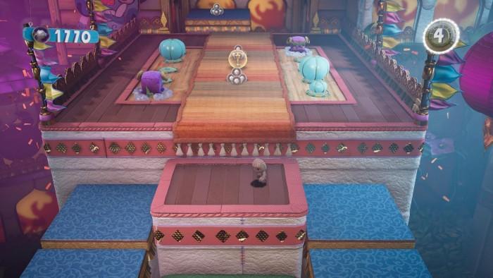 Die Umgebungen in A Big Adventure bestehen meist aus Stoff, Papier und Pappe. (PS5; Bild: Sony / Screenshot: Golem.de)
