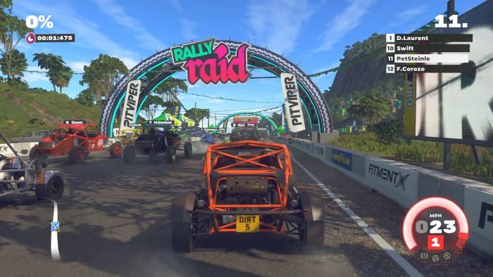 Dirt 5 auf der Xbox Series X in 4K/120 Hz (Bild: Codemasters/Screenshot: Golem.de)