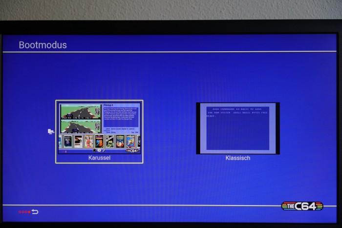 Auswahl des Boot-Modus des TheC64 Maxi (Bild: Miroslav Stimac)