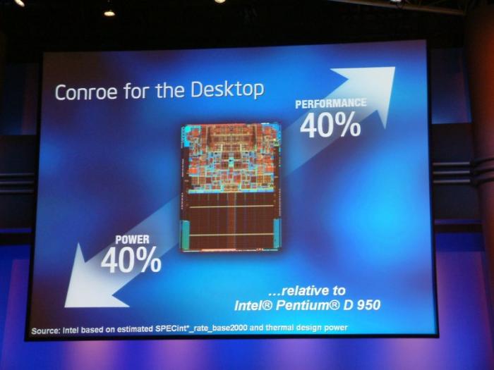 Mit dem Conroe begann Intels immenser Erfolg des vergangenen Jahrzehnts. (Bild: Nico Ernst)