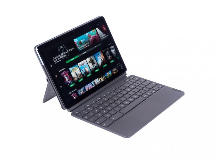 Schlank und preiswert: das Lenovo Ideapad Duet (Bild: Martin Wolf/Golem.de)