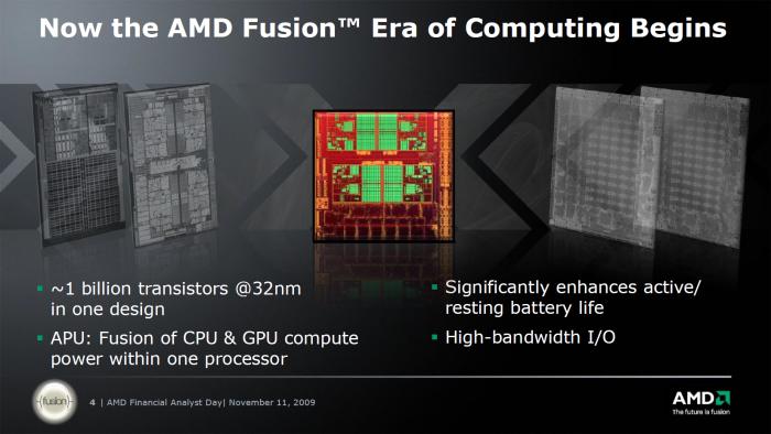 2009 kündigte AMD die ersten APUs an. (Bild: AMD)