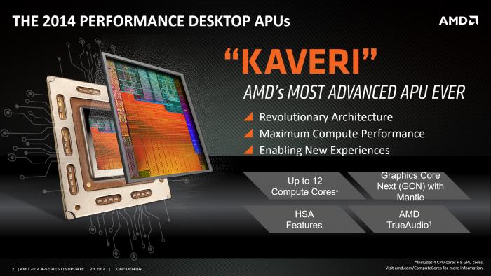 Kaveri stellte 2014 einen wichtigen Schritt dar. (Bild: AMD)