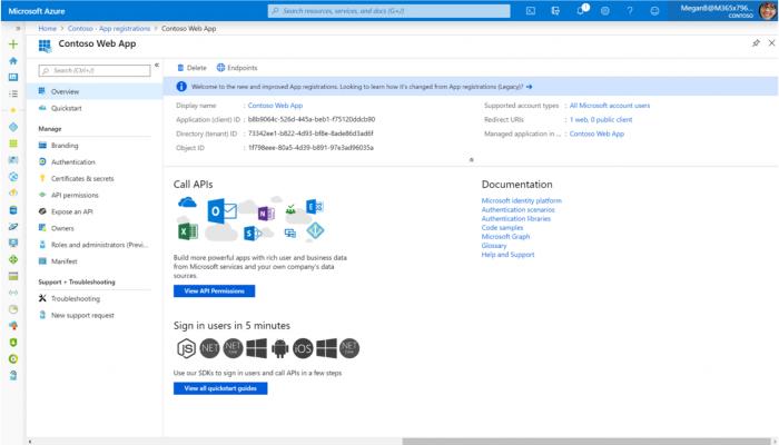 Azure AD lässt sich als Federation-Quelle für Protokolle wie OAuth oder SAML verwenden. (Quelle: Microsoft / Screenshot: Golem.de)
