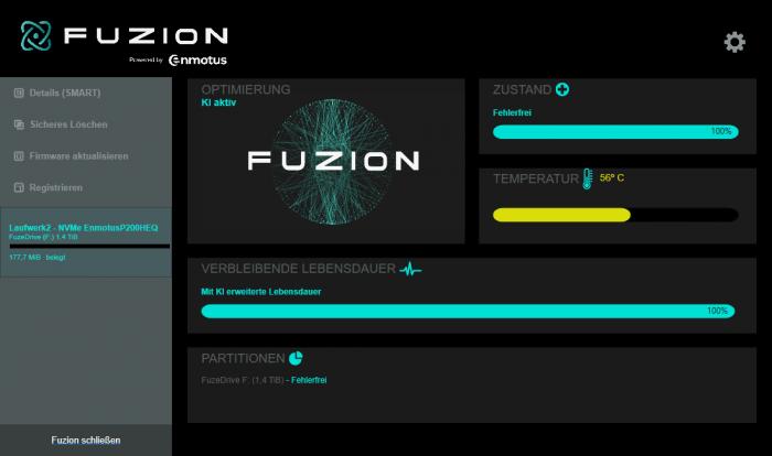 Die Fuzion-Software soll künstliche Intelligenz nutzen. (Screenshot: Golem.de)