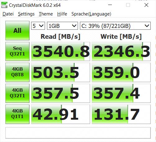 SSD-Geschwindigkeit (Bild: Oliver Nickel/Golem.de)