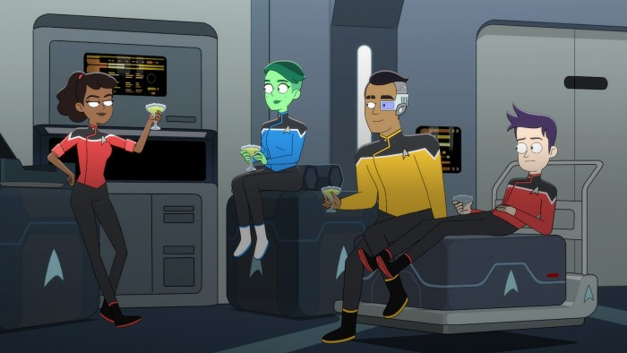 Star Trek: Lower Decks dreht sich um die Fähnriche Beckett Mariner, D'Vana Tendi, Sam Rutherford und Brad Boimler. (Bild: CBS)