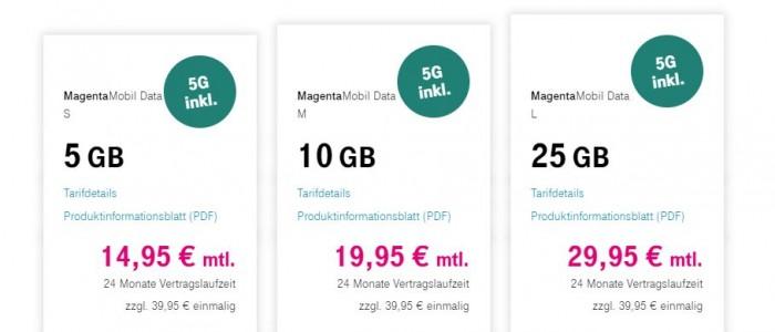 Die neuen Magenta-Mobil-Data-Tarife starten am 19. Januar 2021. (Bild: Deutsche Telekom)