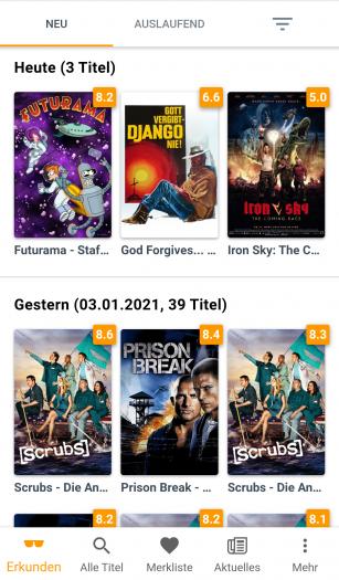 WhatsOnPrime? für Android (Bild: Zeemo/Screenshot: Golem.de)