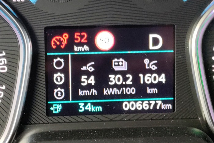 Der Durchschnittsverbrauch ist im Winter trotz sparsamer Fahrweise immer noch recht hoch. (Foto: Friedhelm Greis/Golem.de)