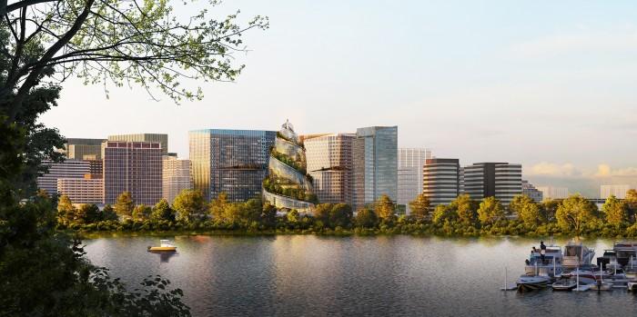 Die Pläne für Amazons neues Hauptquariter in Arlington (Bild: Amazon)