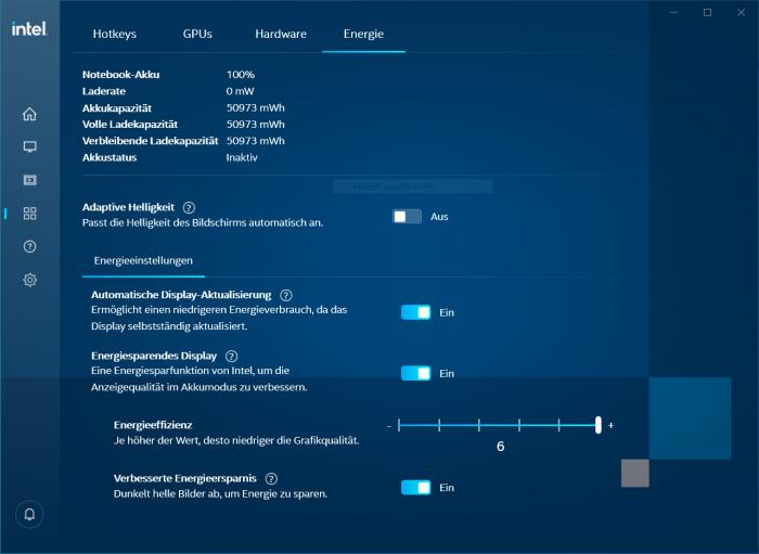 CABC lässt sich im Intel-Treiber abschalten (Screenshot: Golem.de)