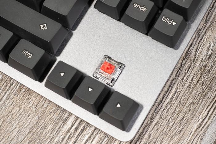 Zum Einsatz kommen Cherry-MX-Red-Klone von TTC. (Bild: Tobias Költzsch/Golem.de)