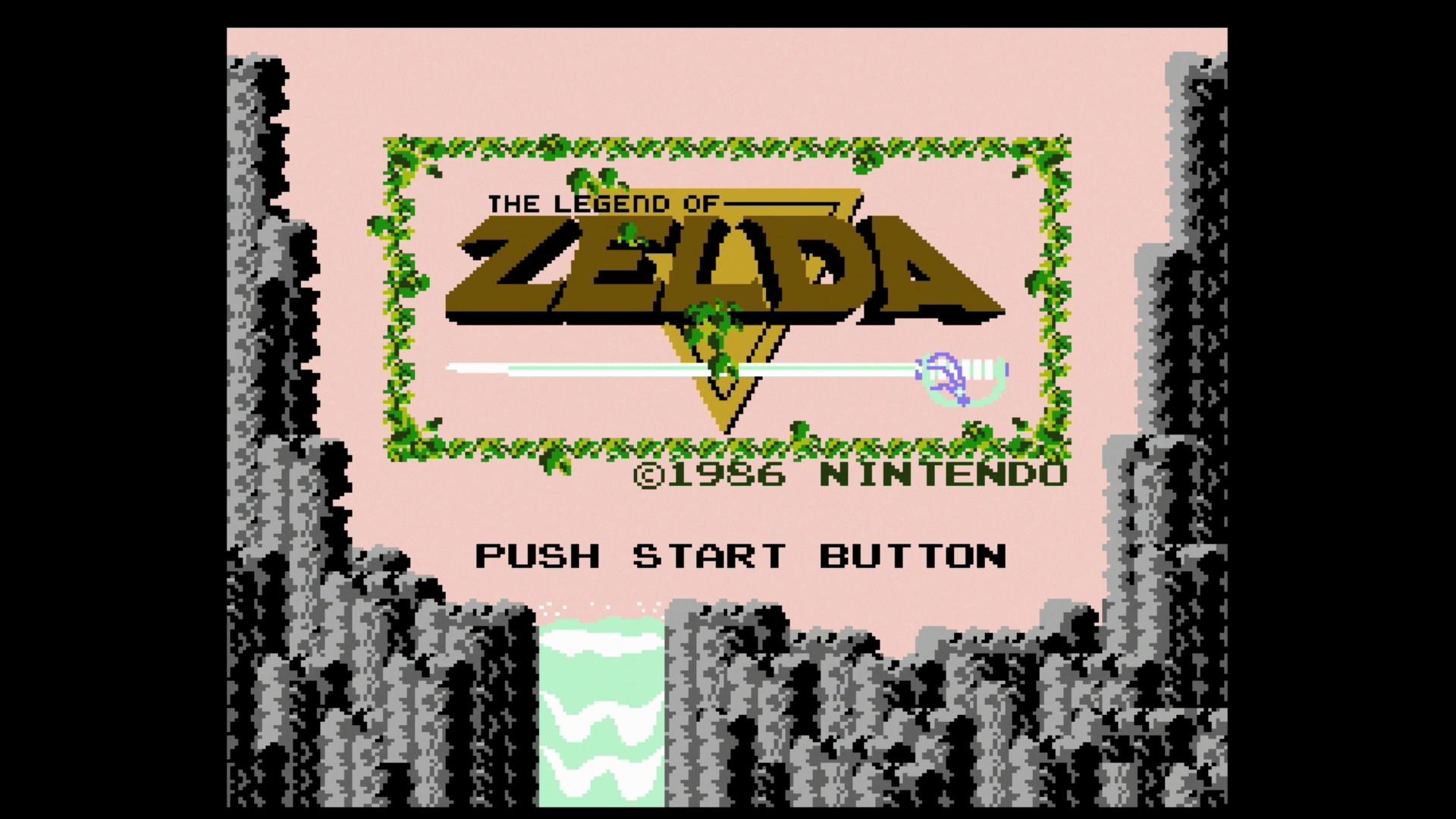 The Legend of Zelda: Das Vorbild für alle Action-Adventures - Schlicht, aber effektiv: Der Titelbildschirm von The Legend of Zelda kann sich immer noch sehen lassen. (Bild: Medienagentur plassma / Nintendo)