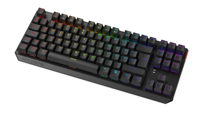 Die GK630K von SPC Gear ist eine Tenkeyless-Tastatur mit mechanischen Schaltern. (Bild: SPC Gear)