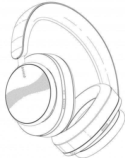 Zeichungen der Sonos-Kopfhörer (Bild: Sonos)
