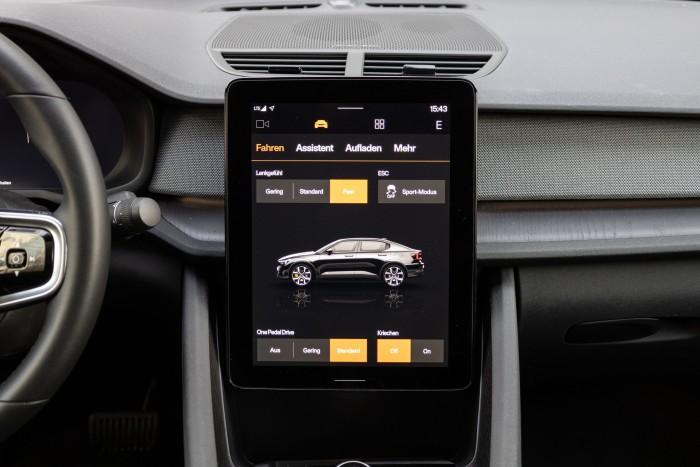 Viele Funktionen werden über den Touchscreen gesteuert. (Bild: Werner Pluta/Golem.de)