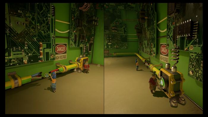 Schalter drücken und Leitungslücken überbrücken - das ist gar nicht so einfach. (Bild: Hazelight / Screenshot: Golem.de)