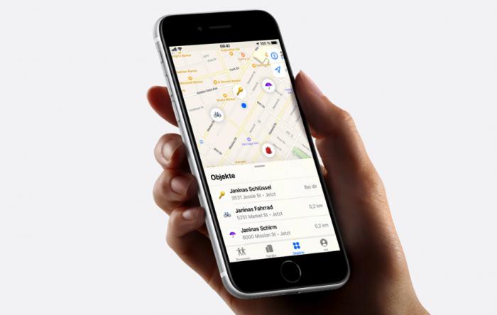 Finde-App für Airtags (Bild: Apple)