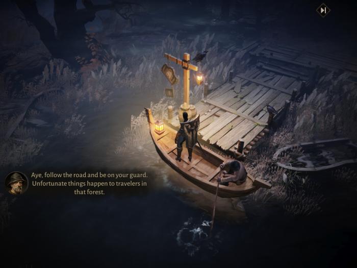 Mit diesem Ruderboot kommen wir in Diablo Immortal an. (Bild: Blizzard/Screenshot: Golem.de)