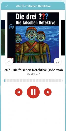 Hörbuch Player von Europa unter iOS (Bild: Sony Music)