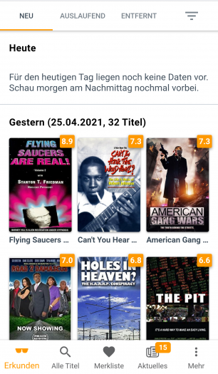 WhatsOnPrime? zeigt die neuen Filme und Serien bei Prime Video (Bild: Zeemo/Screenshot: Golem.de)